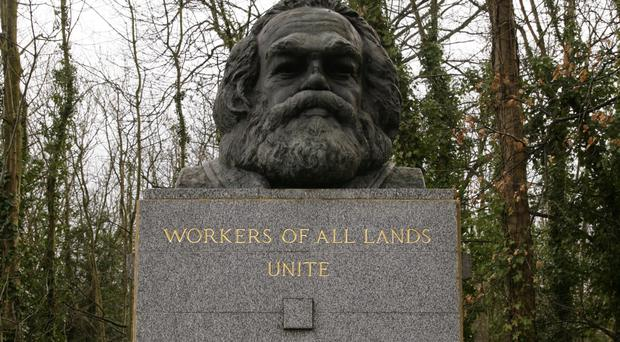 Mex Edwards' blog, The Anonymous Revolutionary, discussed the philosophy of Karl Marx, whose grave at Highgate Cemetery East is pictured, in the modern world and was turned into a book of the same name