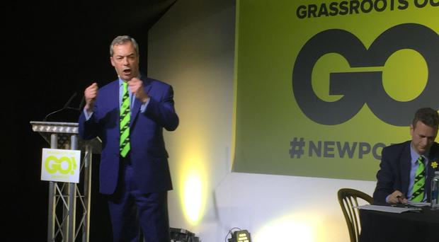 Nigel Farage is associated with the Grassroots Out group
