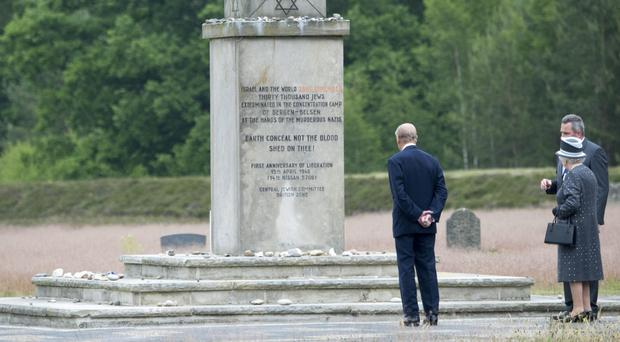 The Queen and Duke of Edinburgh visited the site of the Bergen-Belsen concentration camp in northern Germany last year