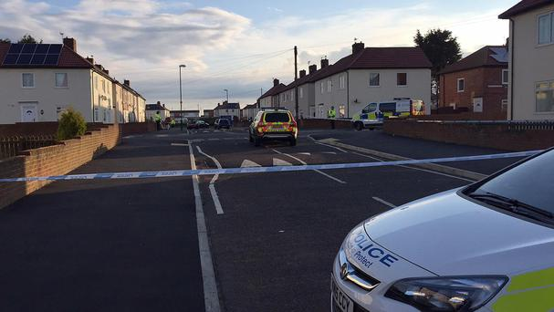 Police at the scene in Frenchmans Way, South Shields, South Tyneside.