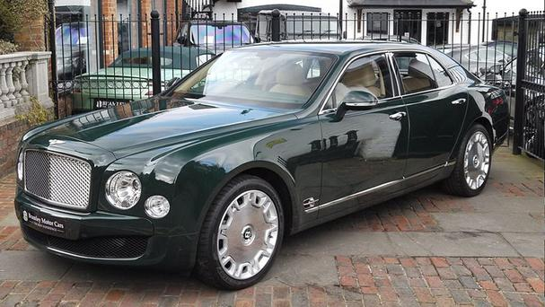 A Bentley Mulsanne car used by the Queen, which has been put up for sale (Bramley Motor Cars/PA)