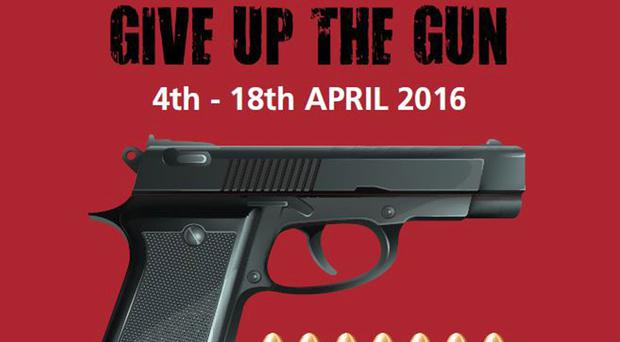 A poster urging the public to give up unwanted firearms (Greater Manchester Police/PA)