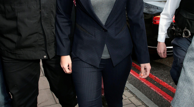 Tulisa Contostavlos arrives at Highbury Corner Magistrates' Court in London yesterday