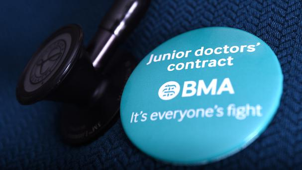 The walkout is the fourth round of strikes by the BMA in a dispute over new contracts for junior doctors