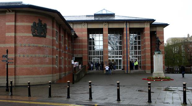 Amar Tasaddiq Hussain is standing trial at Stafford Crown Court