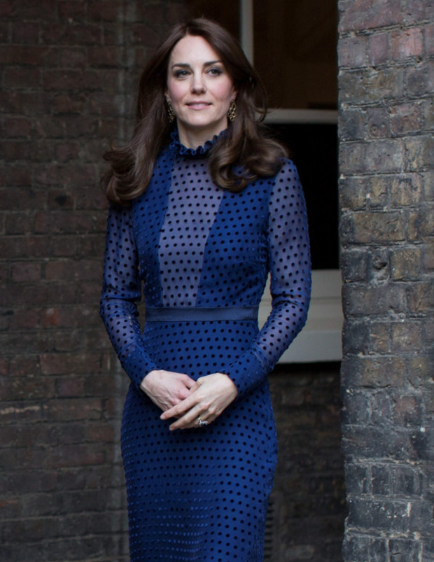 The Duchess wore a dark blue outfit by London-based Indian designer Saloni while the Duke looked smart in a suit and tie