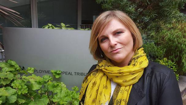 Victoria Wasteney outside the Employment Appeal Tribunal in central London