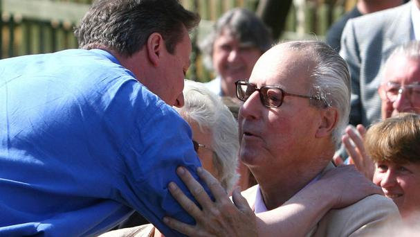 David Cameron said his father was being