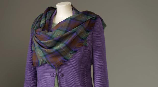 The outfit worn by the Queen at the opening of the Scottish Parliament in 1999 is included in an exhibition in Edinburgh (PA/Royal Collection Trust / Her Majesty Queen Elizabeth II 2016)