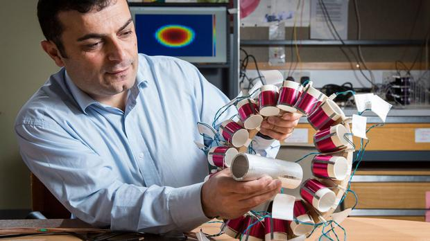 Dr Manuch Soleimani, who has been awarded an EU grant to develop new tomography technology that could help save the UK and EU steel industries (University of Bath/PA)
