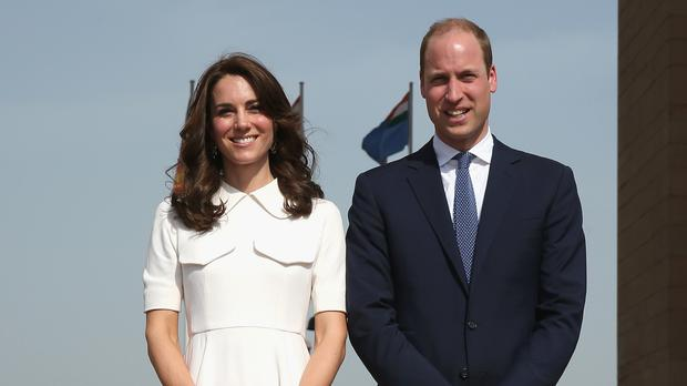 The Duke and Duchess of Cambridge at India Gate in New Dehli
