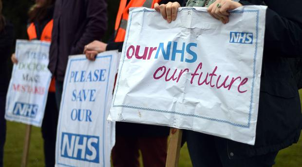 A picket line outside Basingstoke and North Hampshire Hospital during the junior doctors dispute