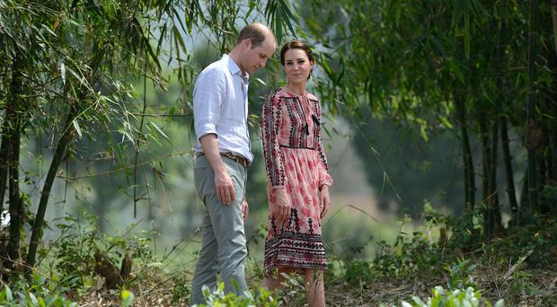 The Duke and Duchess visit Pan Bari village at Kaziranga National Park