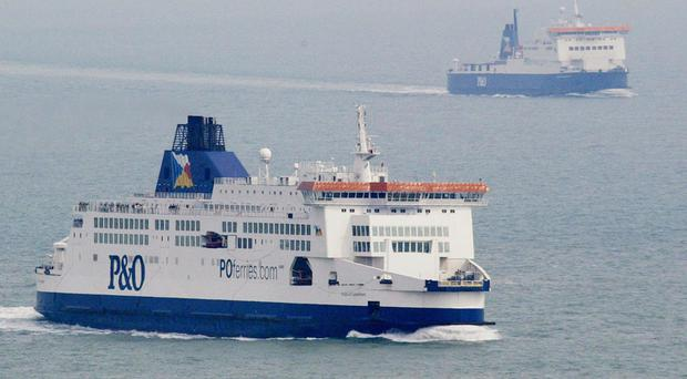 The master of P&O ferry Pride of Canterbury spotted a weak light from the men's phone