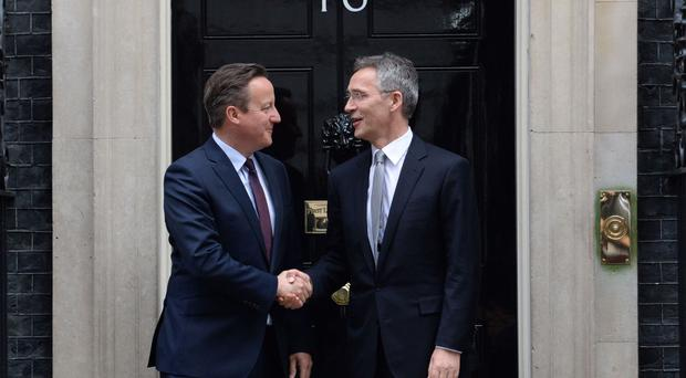David Cameron met Nato Secretary General Jens Stoltenberg at 10 Downing Street