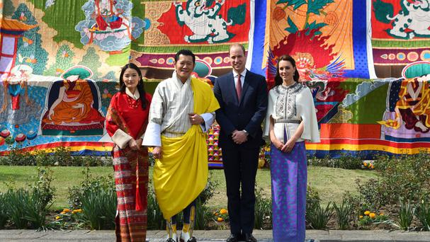 The Duke and Duchess of Cambridge with King Jigme Khesar Namgyel Wangchuck and Queen Jetsun Pema of Bhutan