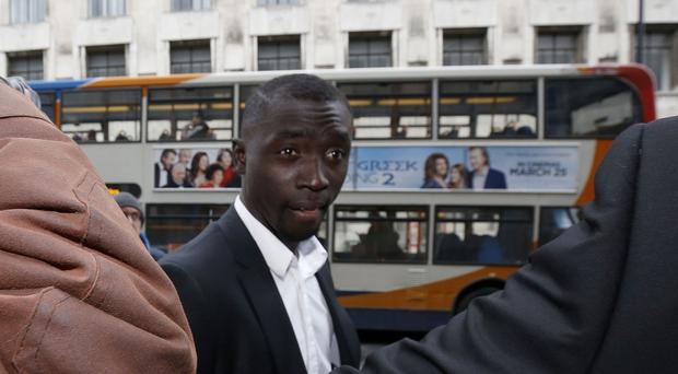 Papiss Cisse arrives at court