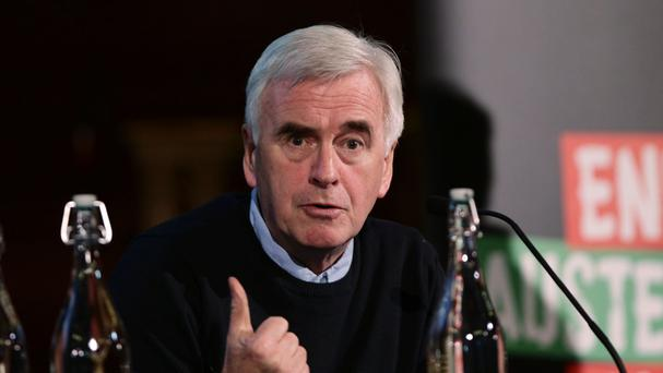 John McDonnell is to address the meeting