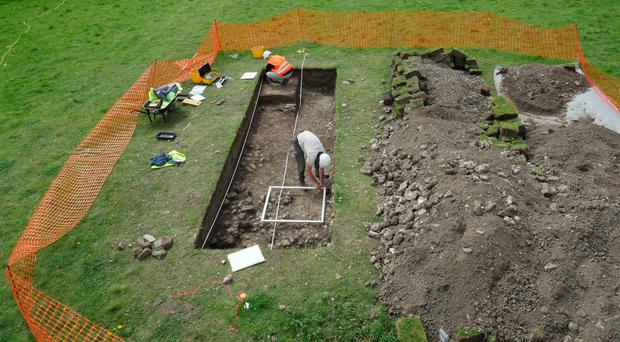 The Roman villa discovered by home owner Luke Irwin