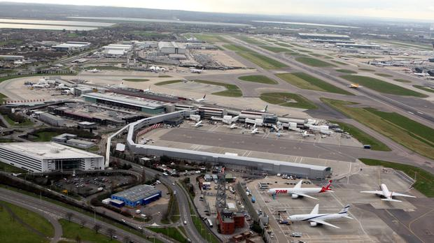 The aircraft was approaching Heathrow airport when it was struck by the