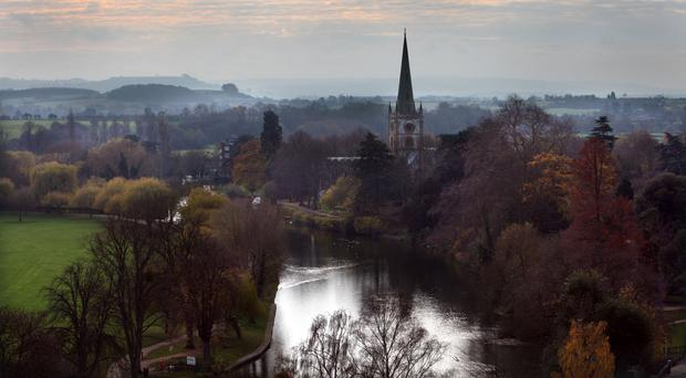 The day's festivities will conclude with a fireworks display and a line of light, leading to Holy Trinity Church, in Stratford upon Avon, where Shakespeare is buried