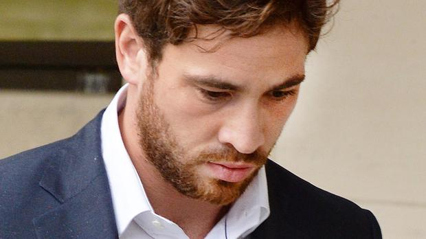 The rugby star denies drink-driving