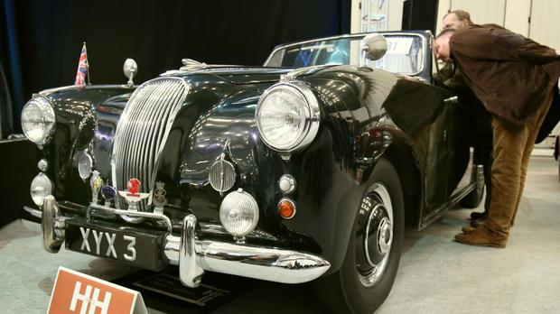 A 1954 Lagonda 3-litre coupe once owed by the Duke of Edinburgh