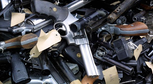 Hundreds of guns were handed in to police forces