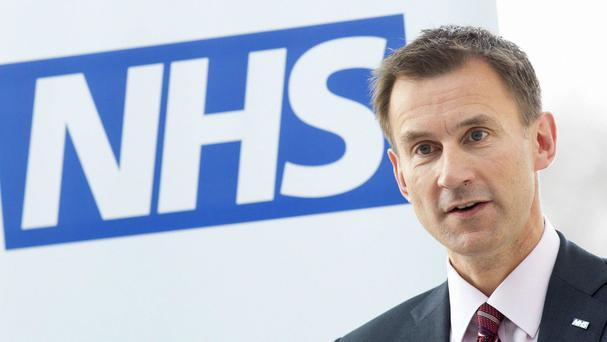 Jeremy Hunt has been urged to trial the doctors contract in a few health trusts