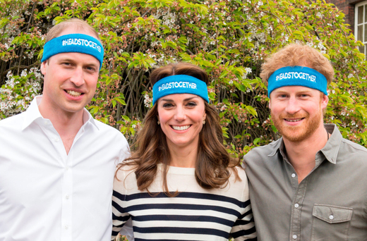 The Duke and Duchess of Cambridge and Prince Harry are spearheading a mental well-being campaign