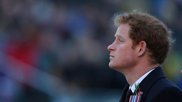 Prince Harry pictured during a visit to the Anzac commemorative site in Turkey