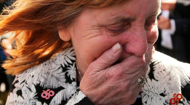 Margaret Aspinall, who lost her son at Hillsborough, was among relatives who wept after the verdict was delivered yesterday