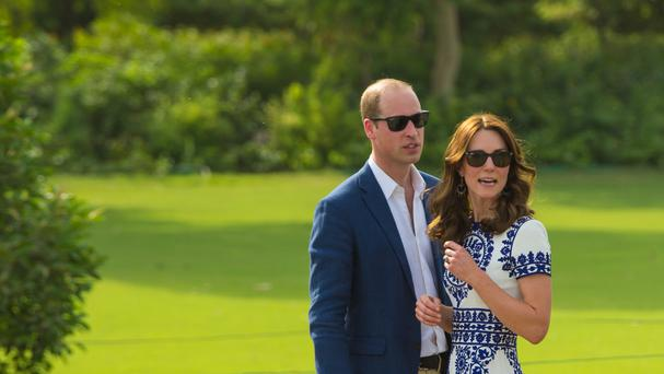 William and Kate during a visit to the Taj Mahal in India.