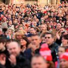 The vigil for the 96 victims of the Hillsborough tragedy in 1989