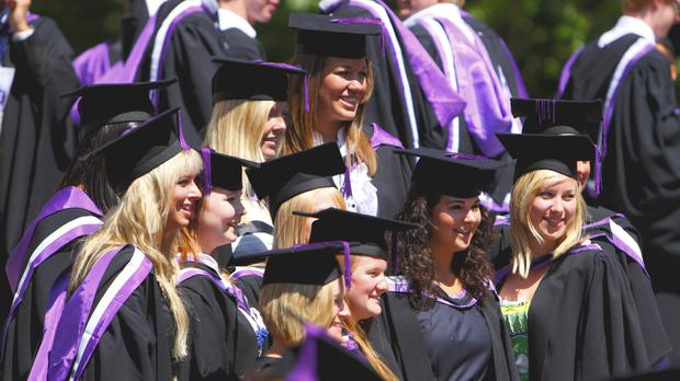 Students graduating from English universities last year owe an average of more than 44,000 pounds, figures show
