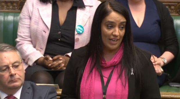 Labour MP Naz Shah in the House of Commons