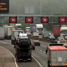 The baby's parents were stuck in congestion on the M42