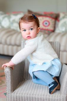 Pictures of Princess Charlotte taken by the Duchess of Cambridge at Anmer Hall in Norfolk to mark her first birthday