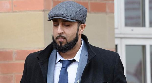 Pc Amar Tasaddiq Hussain outside Stafford Crown Court