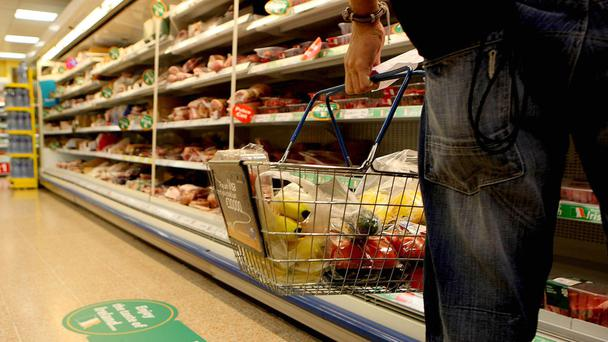 Spending on groceries on offer fell to a seven-year low as superstores took on discounters with permanent price cuts