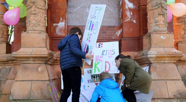 Schools minister Nick Gibb defended tests for primary school children, which are controversial and have sparked protests