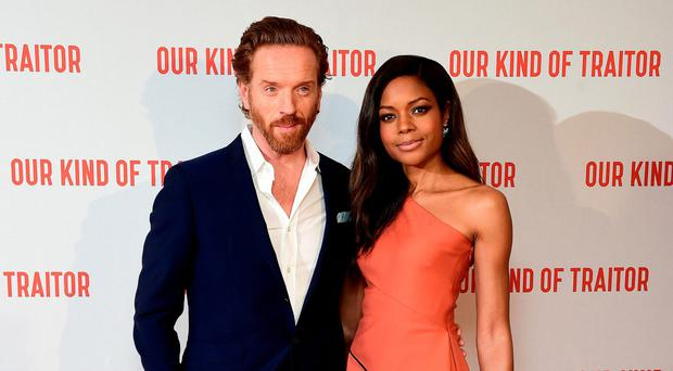 Damian Lewis and Naomie Harris attending the UK premiere of Our Kind Of Traitor in London last night