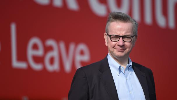 Michael Gove, one of Brexit's two biggest hitters.