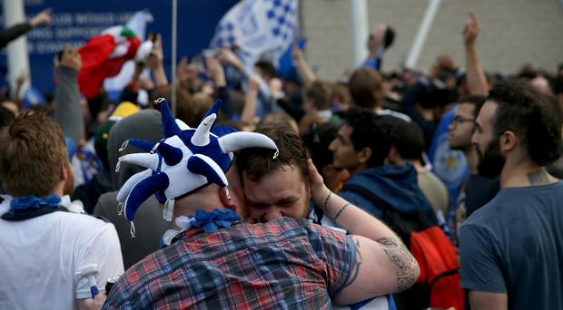 Revelry has been the order of the day for Leicester City fans