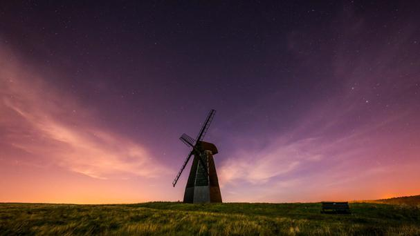 A windmill in darkness at Rottingdean, East Sussex, as South Downs National Park was named as the world's newest international dark sky reserve for the quality of its starry nights.