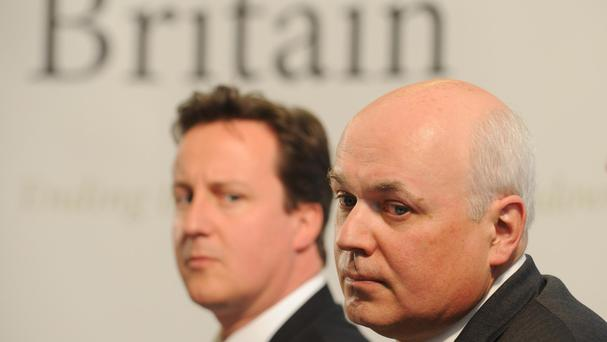 David Cameron and Iain Duncan Smith are at loggerheads over the EU referendum