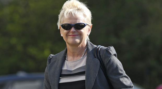 Former Northumberland Police solicitor Denise Aubrey arrives for her unfair dismissal tribunal