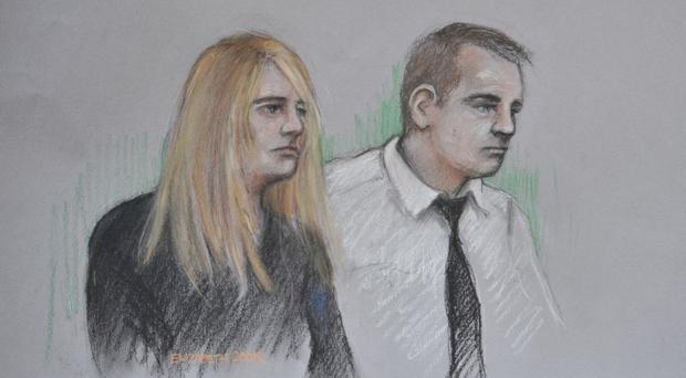 Jennie Gray and Ben Butler in the dock at the Old Bailey (Elizabeth Cook)