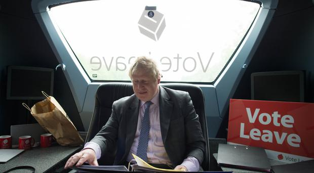 Boris Johnson has said uncontrolled immigration is too high under EU rules as he joined the Vote Leave battle bus tour.