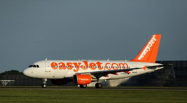The easyJet flight to Cyprus was delayed while the incident was dealt with by police